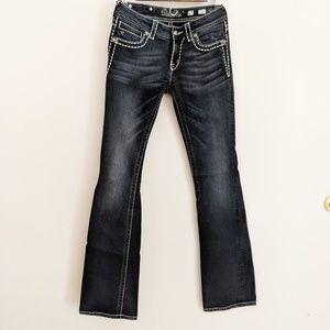 Miss Me Dark Wash Bootcut Jeans Size 27